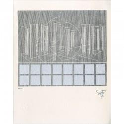 """""""Écriture"""", sérigraphie signée dans la planche à partir d'une œuvre de Soto de 1979"""