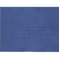 œuvre originale de Klairy Korelis adressée à Raoul Jean Moulin en 1988