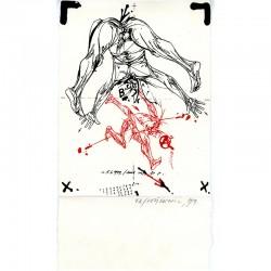 lithographie originale sur Arches de Vladimir Velickovic, 1979