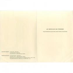 carte de voeux du Service de Presse de la galerie Maeght, en 1992