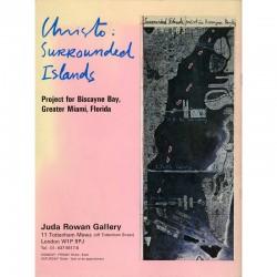 Catalogue de l'exposition de Christo et Jeanne-Claude à la Juda Rowan Gallery en 1981. Photographies de Wolfgang Volz