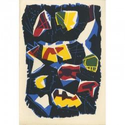lithographie en 4 couleurs sur Arches d'après un bois gravé de Jan Voss, 1990