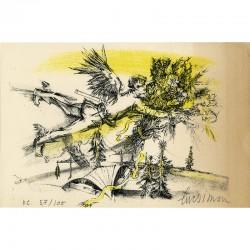 lithographie originale de Luc Simon, 1958