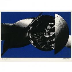 """""""Espace-Désir"""" sérigraphie de François Féret, 1987"""