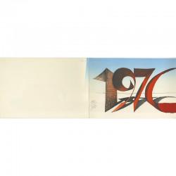 estampe originale de Serre, carte de vœux numérotée et signée au crayon