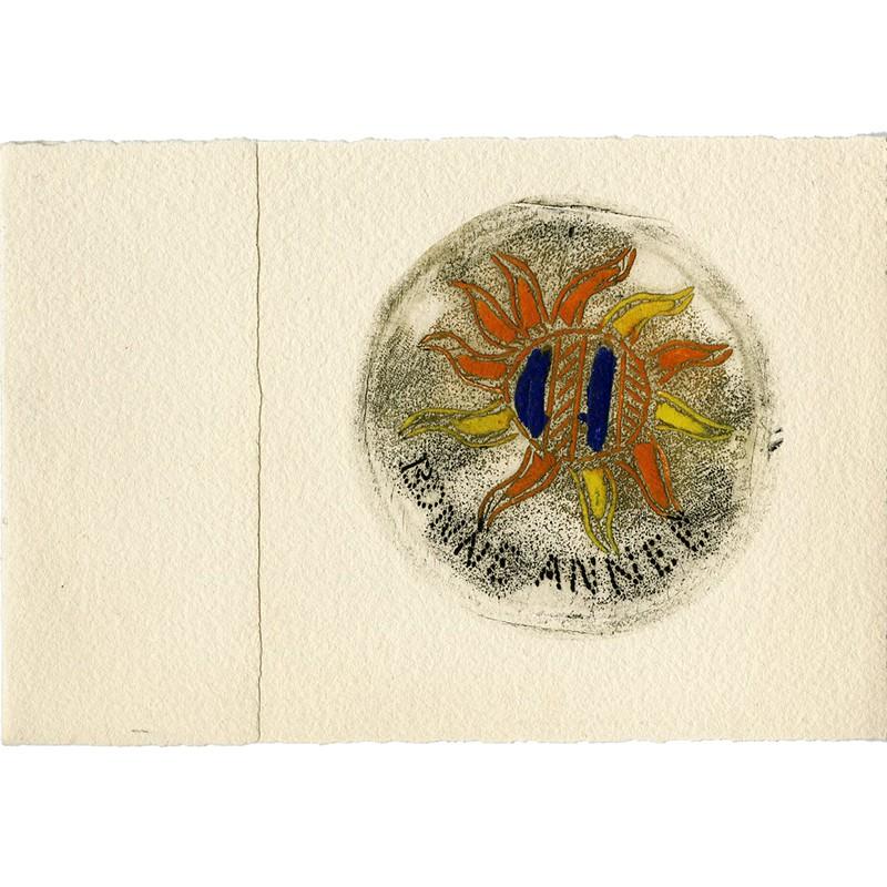 gravure originale en 4 couleurs de Louttre B