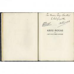 envoi autographe signé en arabe et en français par Ben Ghabrit, adressé à Monsieur Tony Bouillet