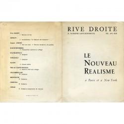 exposition du Nouveau Réalisme de Pierre Restany, à la galerie Rive Droite, en 1961