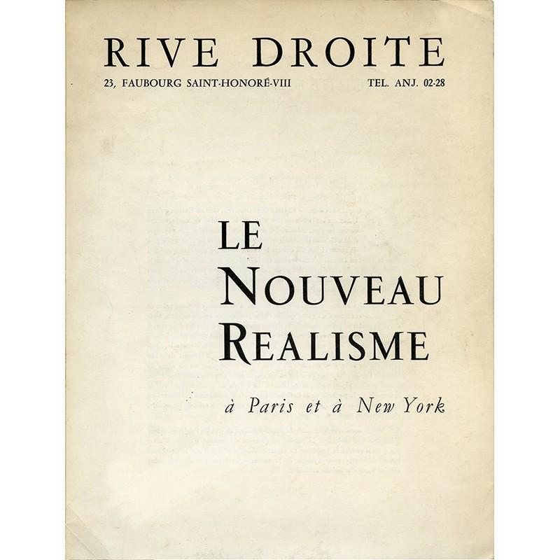 « Le Nouveau Réalisme à Paris et à New York»,  Pierre Restany, 1961