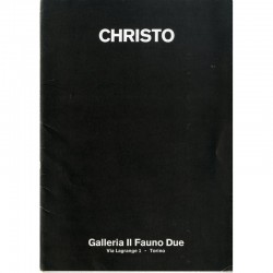 Catalogue de l'exposition  de Christo, galleria Il Fauno Due, Turin