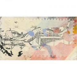 aquarelle et collage, 1990
