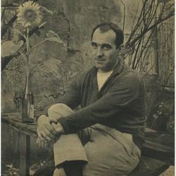 Jean Tinguely photographié par Robert Doisneau, 1959