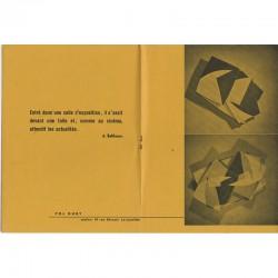 Catalogue pour l'exposition de Pol Bury, galerie Le rouge et le Noir, Charleroi, 1957