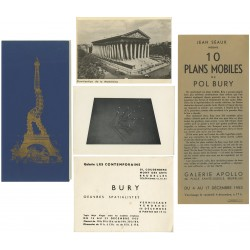 lot de documents Pol Bury