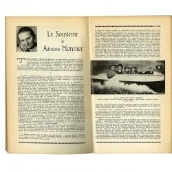 """""""Le souvenir de Adrienne Monnier """", in Viridis Candela, cahiers du collège de pataphysique, 1960"""