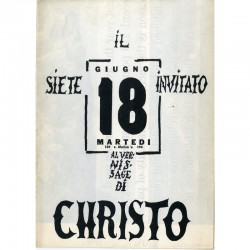 Invitation vernissage/manifeste/catalogue de l'exposition Christo, Galleria Apollinaire, 1963, plié en 8