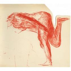lithographie de Garache pour la carte de vœux d'Aimé Maeght, 1977
