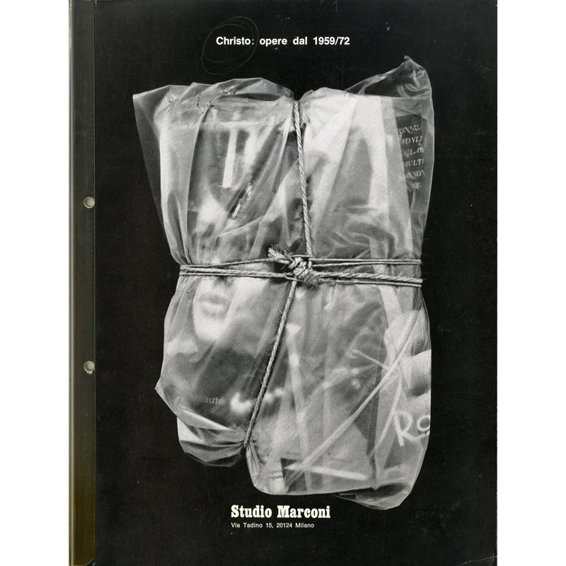 Catalogue d'une exposition de Christo, Studio Marconi, 1973