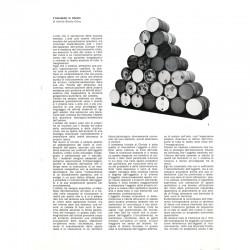 une des 14 feuilles perforées du catalogue pour l'expositions Christo, Studio Marconi, 1973