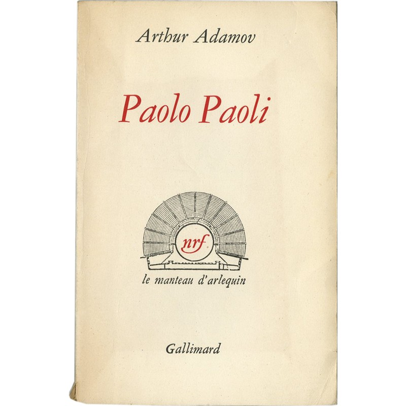 Arthur Adamov, Paolo, Paoli, 1957