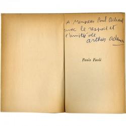 Dédicace d'Arthur Adamov à Paul Achard