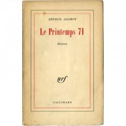 Arthur Adamov, Le Printemps 71, 1961