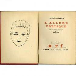 en frontispice un portrait de Jacques Baron par Man Ray