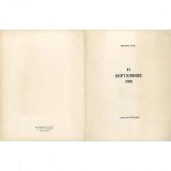 feuille imprimée sur Vélin d'Arches hors commerce de Bernard Noël et Louis Scutenaire