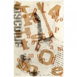 """Lithographie numérotée de Paul Armand Gette pour le tirage de tête de """"Sous les pavés la plage"""""""