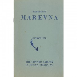 catalogue de l'exposition des peintures de Marevna à la Lefevre Gallery, 1951