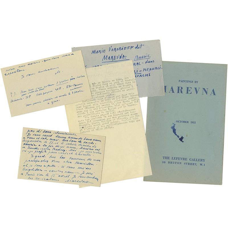 lot de divers documents sur Marevna