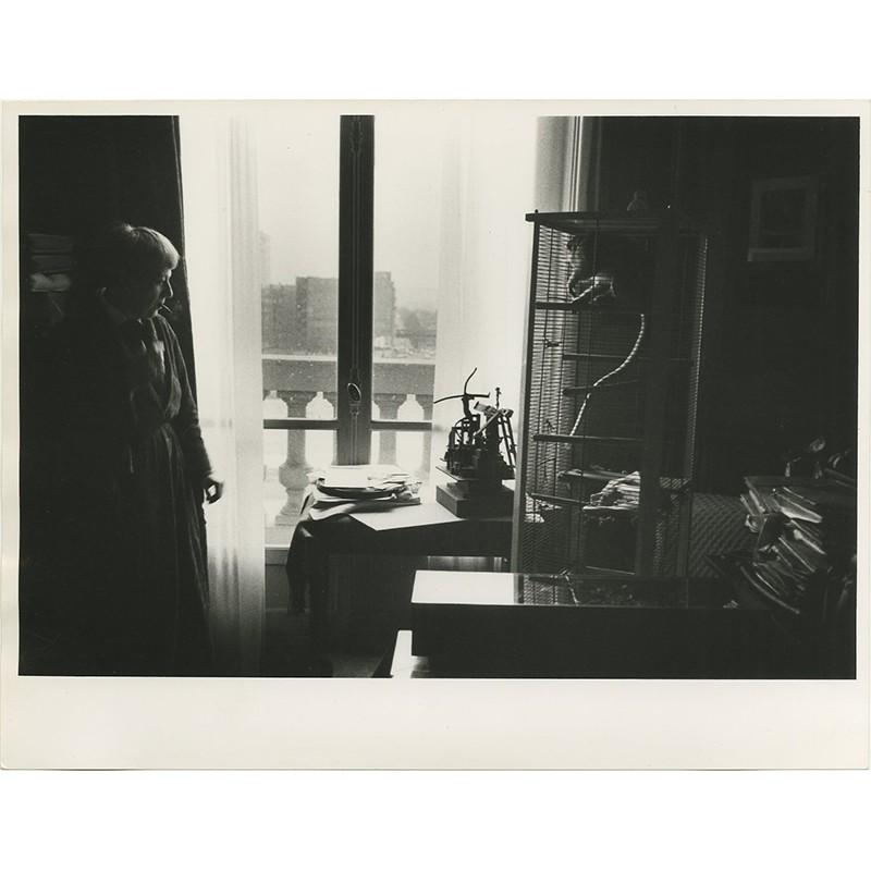 Yolande Fièvre et son singe Landy, photo Shunk-Kender