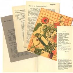 contenu de la revue Morphèmes n°1, d'Imre Pan