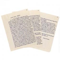 """""""Vingt ans après"""", manuscrit d'Antoine Blondin, 1982"""