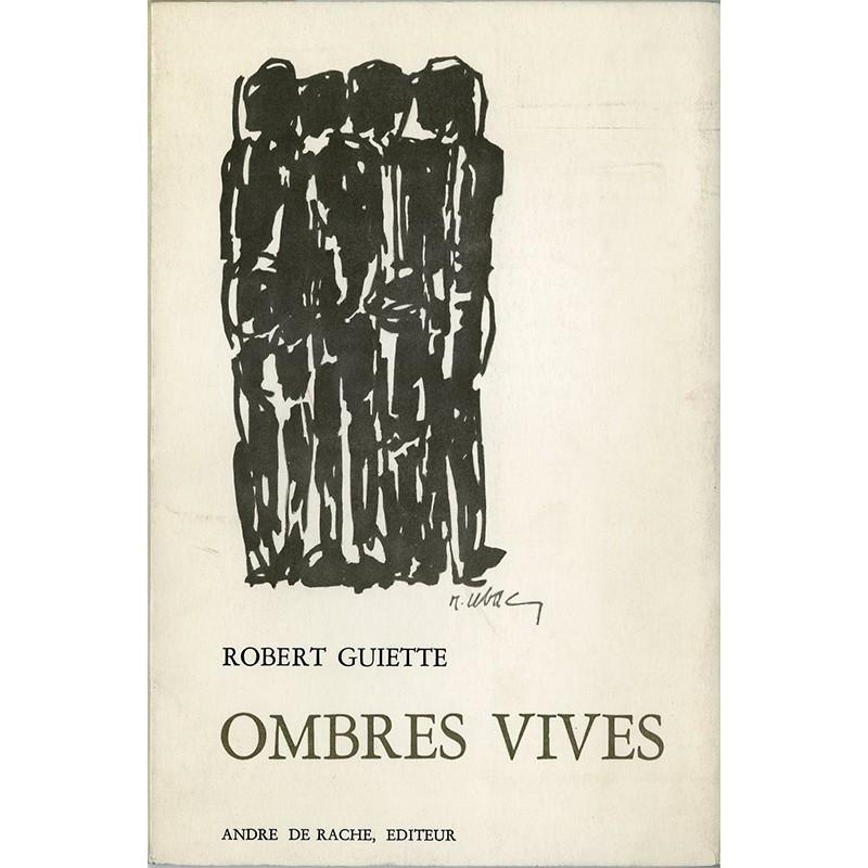 """couverture de Raoul Ubac pour le livre de Robert Guiette """"Ombres vives"""", 1969"""
