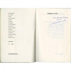 dédicace de Robert Guiette à Henri Michaux