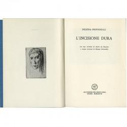 L'incisione dura, 1977, illustré de 5 gravures à l'eau forte de Silvano Scheiwiller
