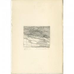 gravure originale signée et numérotée au crayon de Silvano Scheiwiller