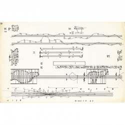 "Planche n° 50 de John Cage ""Concert for Piano and Orchestra. Solo for Piano ""For Elaine de Kooning"" (1958)"""