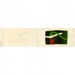 carte de vœux de Bertrand Dorny envoyée à Raoul-Jean Moulin, 1983