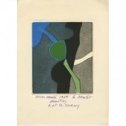 carte de vœux de Bertrand Dorny envoyée à Raoul Jean Moulin, 1985
