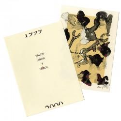 lithographie signée et datée au crayon par Guillermo Arizta, pour les voeux de l'atelier Clot