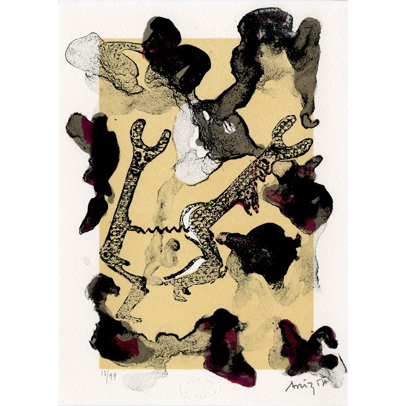 lithographie originale de Guillermo Arizta, 2000