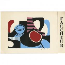 sérigraphie originale 4 couleurs, signée au crayon, d'Yves Faucheur, 1974