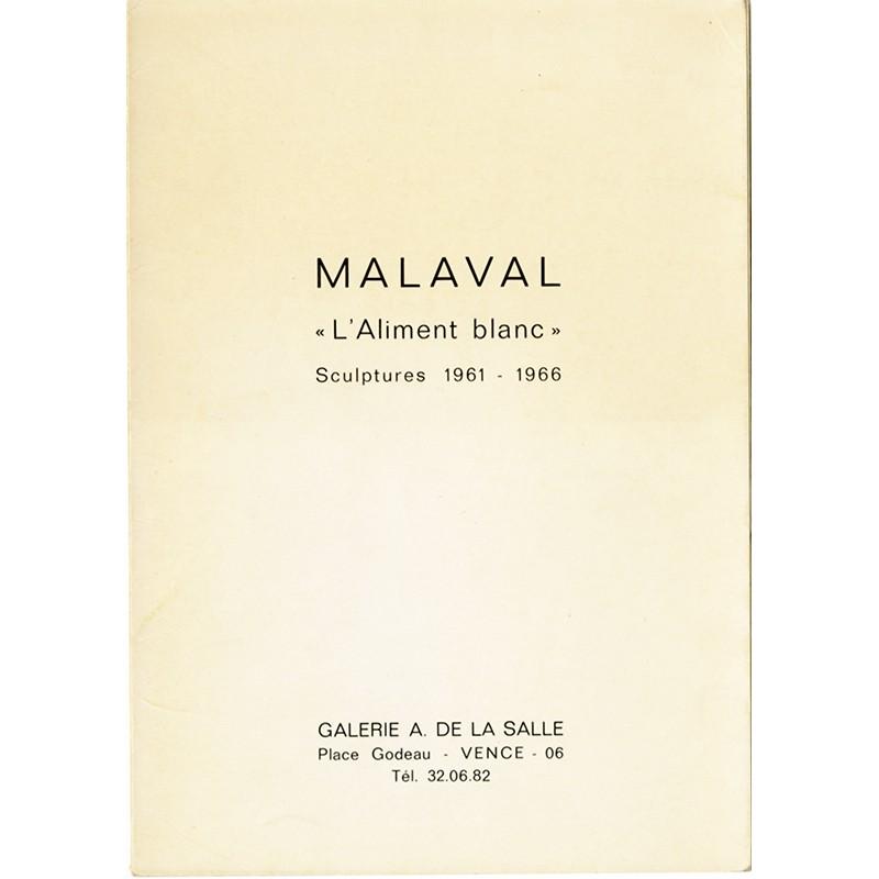 Robert Malaval, L'aliment blanc, galerie A. de la Salle, Vence, 1966