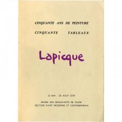 carton d'invitation à l'exposition Lapicque, au Musée des Beaux-Arts de Dijon, en 1979
