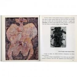 Dubuffet, La pisseuse, une des 8 reproductions en couleurs rapportées