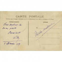 carte postale autographe de Willy, décembre 1907