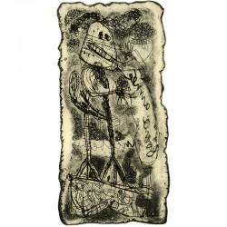 gravure de Lucebert pour une carte de voeux