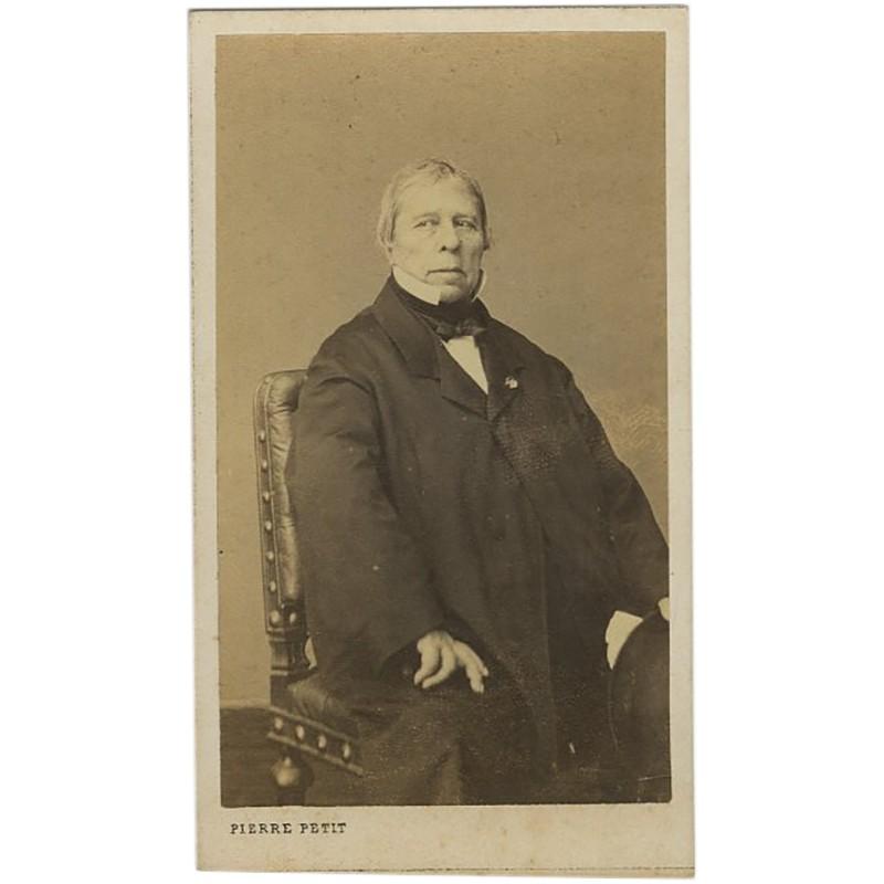 Portrait carte de Jean Auguste Dominique Ingres par Pierre Petit